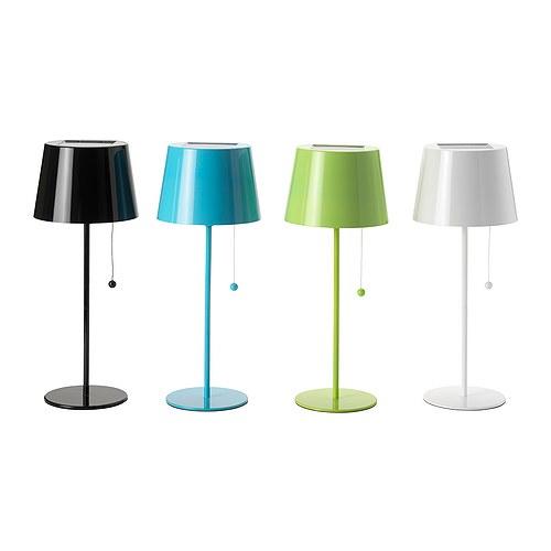 SOLVINDEN Lámpara de mesa solar colores variados diámetro: 16 cm Altura: 40 cm