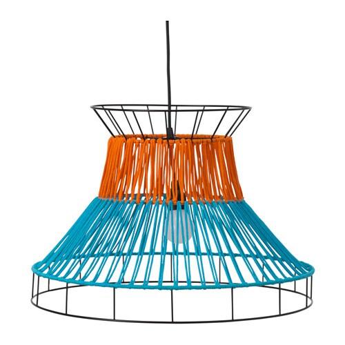 SSOLVINDEN Lámpara techo LED, naranja, azul exterior A+ IKEA