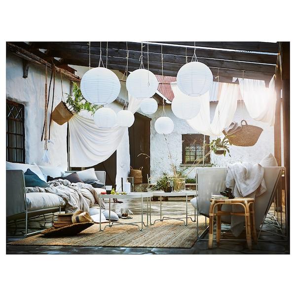 SOLVINDEN Lámpara techo solar LED, exterior/globo blanco, 45 cm
