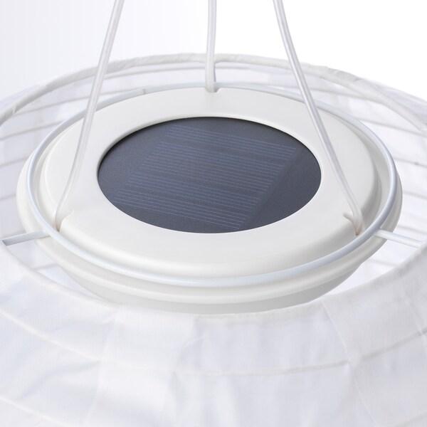 SOLVINDEN Lámpara techo solar LED, exterior/globo blanco, 30 cm