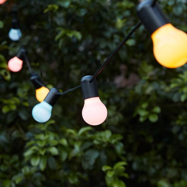 SOLVINDEN guirnalda LED 12 bombillas exterior/multicolor 4.0 m 40 cm 4.4 m 3.0 W 8.4 m