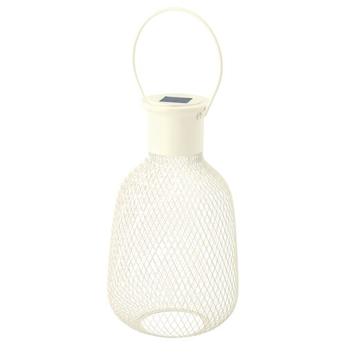 SOLVINDEN farolsolarLED exterior/rejilla blanco 1 lm 16 cm 29 cm