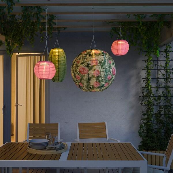 SOLVINDEN lámpara techo solar LED exterior/globo flor 2 lm 40 cm 45 cm 40 cm