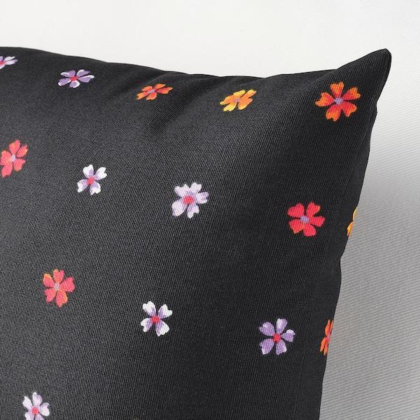 SOMMARBINKA Cojín, negro/multicolor, 30x58 cm