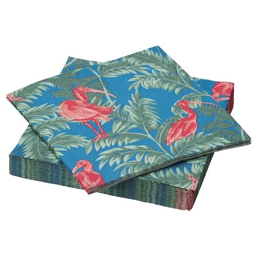 SOMMARLIV servilleta de papel pájaro/multicolor 33 cm 33 cm 30 unidades
