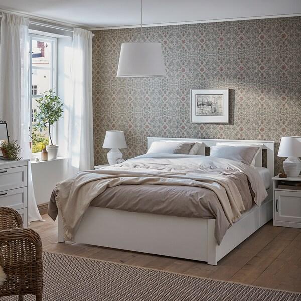 SONGESAND - Estructura de cama con 4 cajones, blanco/Lönset160x200 cm 281€ Cama de Ikea