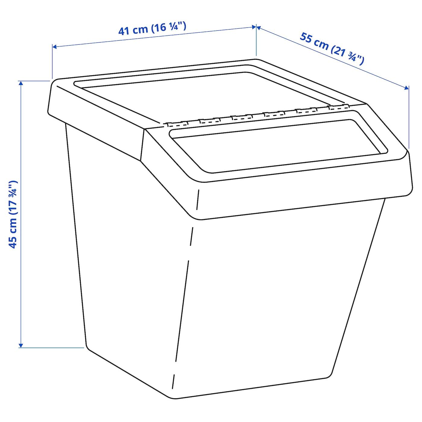 Sortera Cubo De Basura Con Tapa Blanco 60 L Ikea