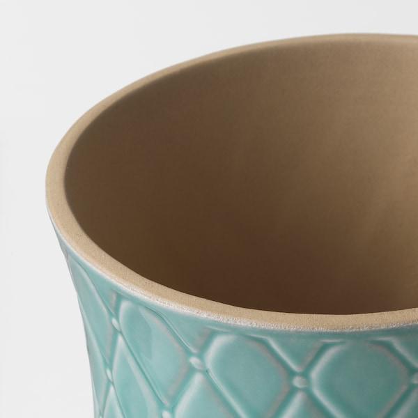 SPARRISKNOPP Macetero, azul claro, 12 cm