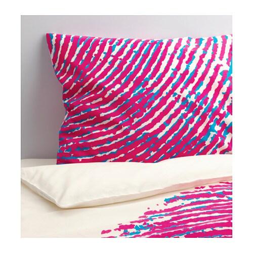 STÅHEJ Funda nórd y funda para almohada, blanco, rosa - Últimas unidades en IKEA L'Hospitalet