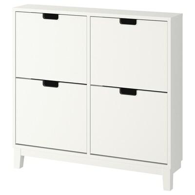 STÄLL Zapatero con 4 compartimentos, blanco, 96x90 cm