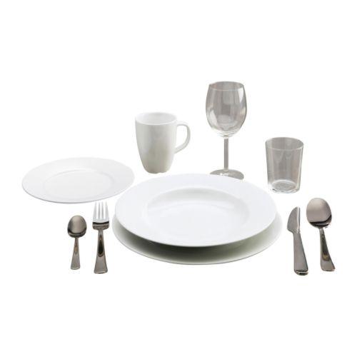 STARTBOX PLUS Vajilla 60 piezas IKEA Diseño neutro muy fácil de combinar y complementar.