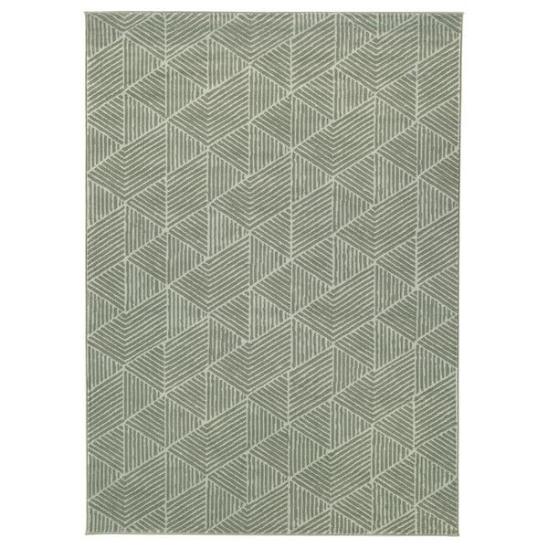 STENLILLE Alfombra, pelo corto, verde, 170x240 cm
