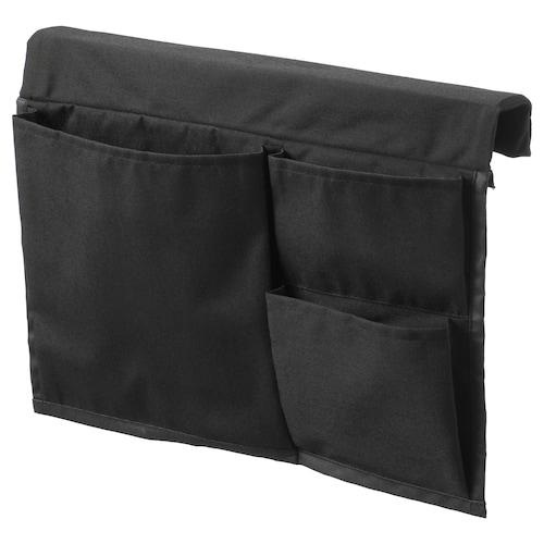 STICKAT almacenaje bolsillos cama negro 39 cm 30 cm