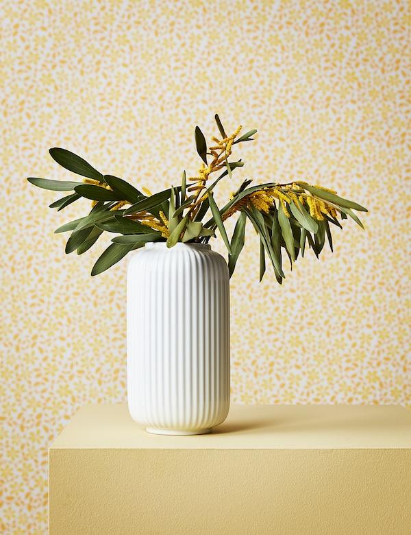 STILREN Florero / jarrón, blanco, 22 cm