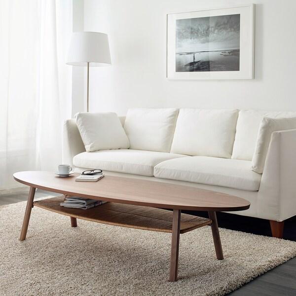 STOCKHOLM mesa de centro chapa nogal 180 cm 59 cm 40 cm