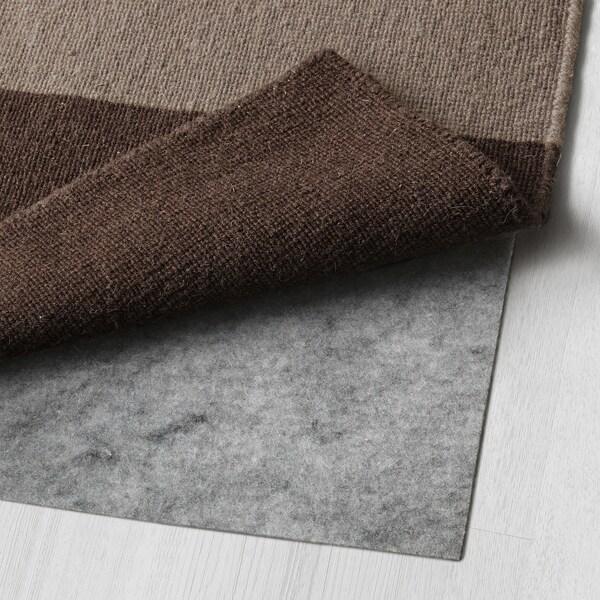 STOCKHOLM alfombra a mano/a cuadros marrón 350 cm 250 cm 6 mm 8.75 m² 1985 g/m²