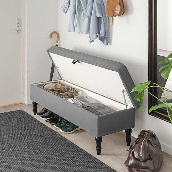 STOCKSUND banco Ljungen gris/negro/madera 144 cm 49 cm 47 cm