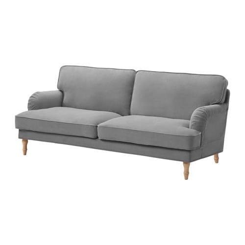 Stocksund funda para sof de 3 plazas ljungen gris ikea - Funda para sofa ikea ...