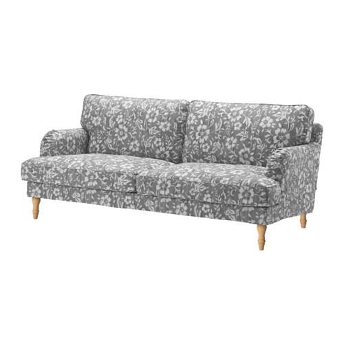 Stocksund sof 3 plazas hovsten gris blanco marr n claro ikea for Sofa moderne marron gris