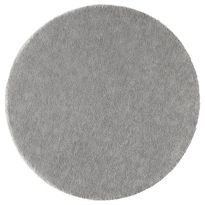 STOENSE Alfombra, pelo corto, gris, 130 cm