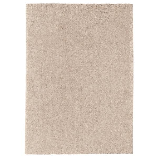 STOENSE Alfombra, pelo corto, hueso, 170x240 cm