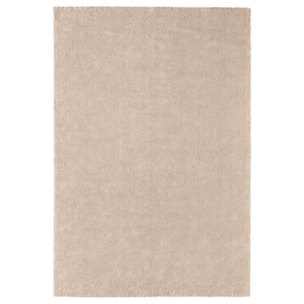 STOENSE Alfombra, pelo corto, hueso, 200x300 cm IKEA