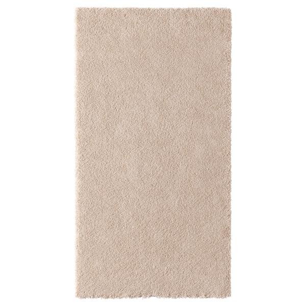 STOENSE Alfombra, pelo corto, hueso, 80x150 cm