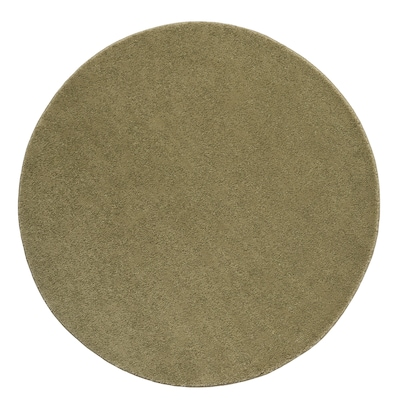 STOENSE Alfombra, pelo corto, verde oliva claro, 130 cm