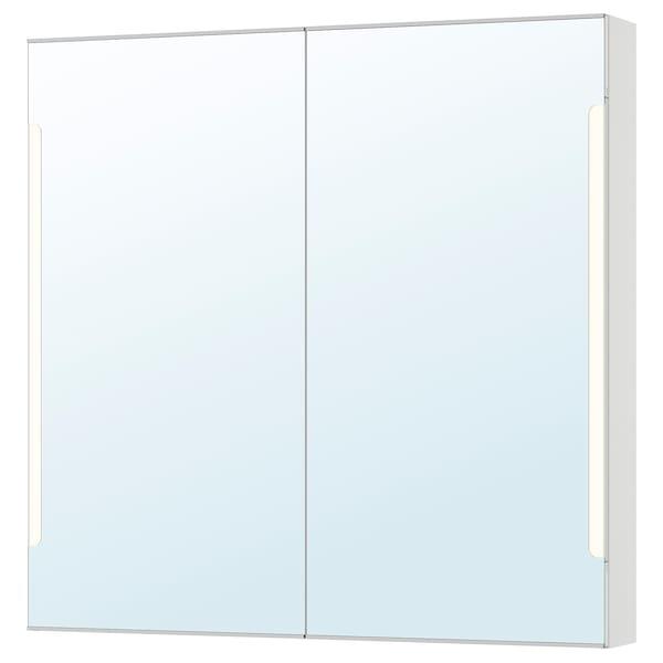 STORJORM arm espejo 2 pt/ilum integrada blanco 100 cm 14 cm 96 cm