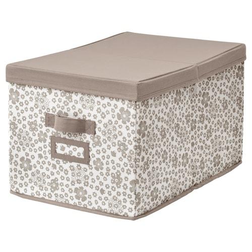STORSTABBE caja con tapa beige 35 cm 50 cm 30 cm