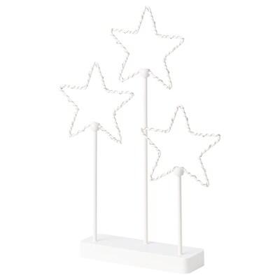 STRÅLA Adorno mesa LED, a pilas/estrella 3