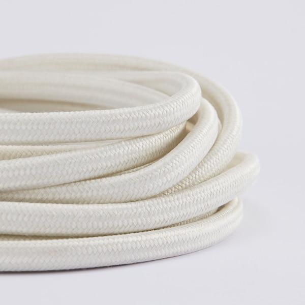 STRÅLA Cable con enchufe, blanco, 4 m