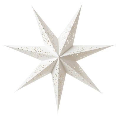 STRÅLA Pantalla para lámpara, encaje blanco, 70 cm