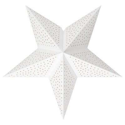 STRÅLA Pantalla para lámpara, lunares/blanco, 48 cm
