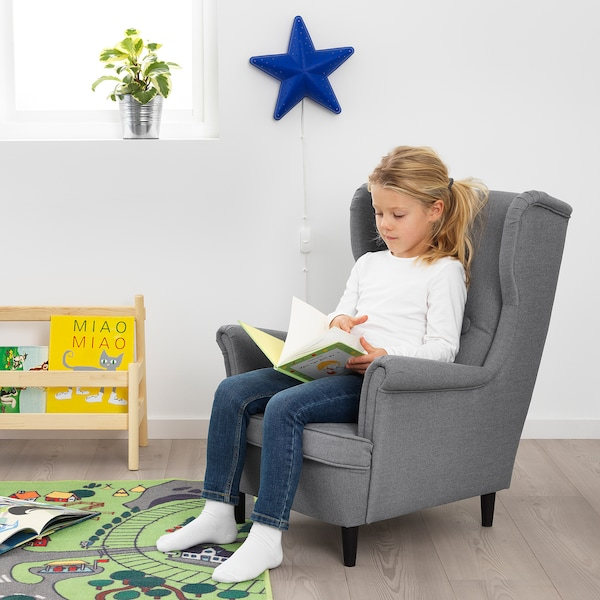 STRANDMON Sillón para niños, Vissle gris