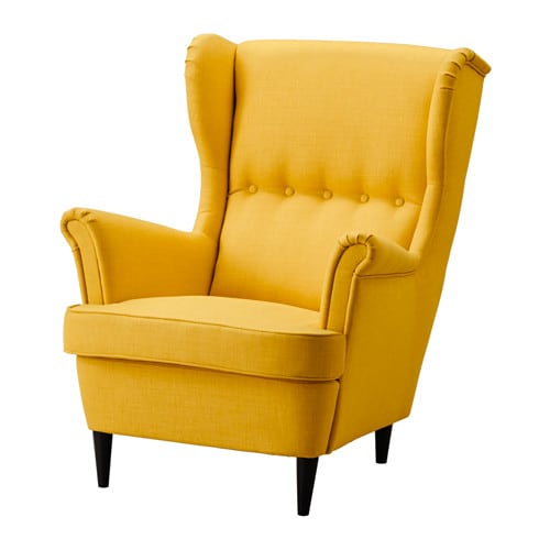 STRANDMON  - Wing armchair Skiftebo yellow