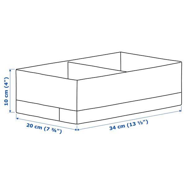 STUK caja con compartimentos blanco/gris 20 cm 34 cm 10 cm