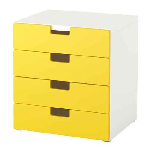 stuva almacenaje con cajones blanco amarillo ikea