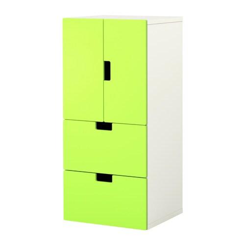 Stuva comb almacenaje puertas cajones blanco verde ikea - Ikea ninos almacenaje ...