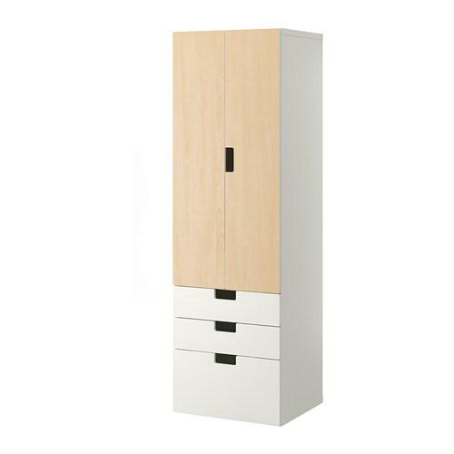 Stuva comb almacenaje puertas cajones blanco abedul ikea - Armarios almacenaje ikea ...