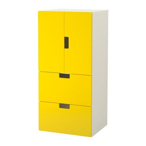 Stuva comb almacenaje puertas cajones blanco amarillo ikea for Almacenaje bano ikea