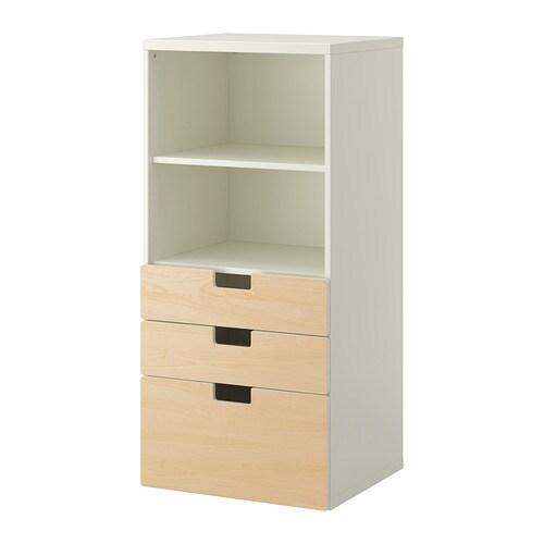 Stuva combi almacenaje cajones blanco abedul ikea for Muebles almacenaje ikea