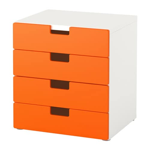 Stuva combi almacenaje cajones blanco naranja ikea - Muebles cajones ikea ...