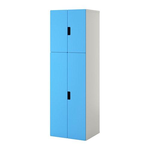 Stuva combi almacenaje con puertas blanco azul ikea - Armarios almacenaje ikea ...