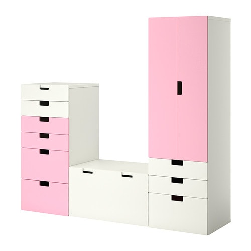 Stuva combinaci n almacenaje blanco rosa ikea - Perchas bano ikea ...