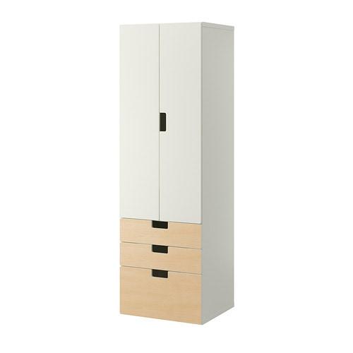 stuva combinacin de armario y estantera blanco abedul ancho cm fondo