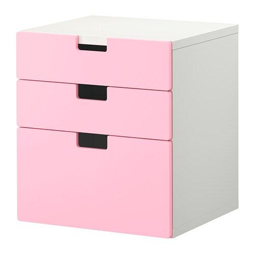 Stuva c moda de 3 cajones rosa ikea - Cajones de tela ikea ...