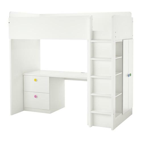 Stuva f lja cama alta con 2 cajones y 2 puertas ikea - Ikea cama alta ...