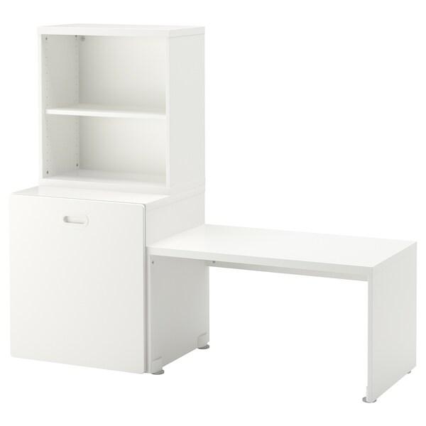 STUVA / FRITIDS mesa/contenedor juguetes blanco/blanco 150 cm 50 cm 128 cm