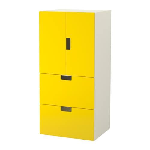 Stuva mueble de sal n con almacenaje blanco amarillo ikea for Muebles almacenaje ikea